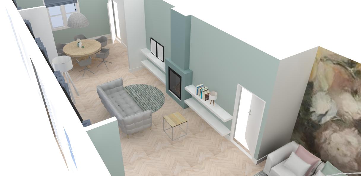 Projecten - Restyling Woonkamer - Overzicht - Ontwerp in Sketchup!